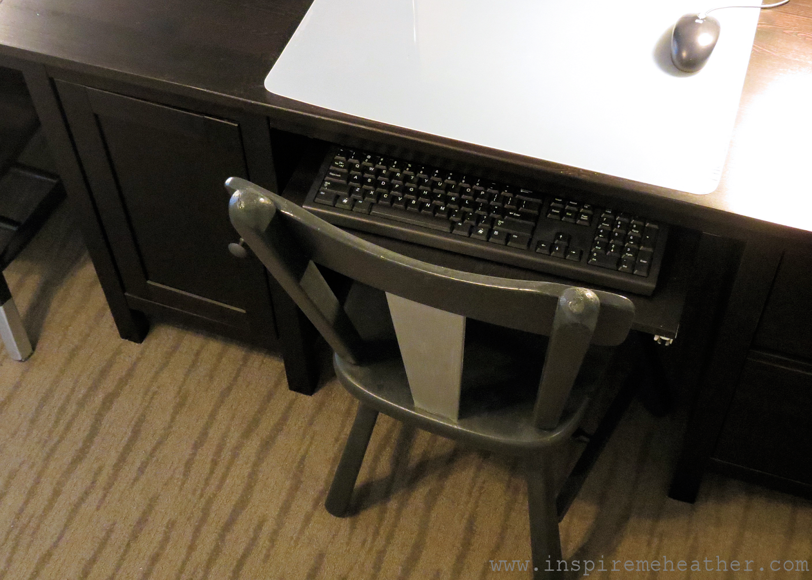 Ikea hemnes desk keyboard tray hack furniture ideas pinterest