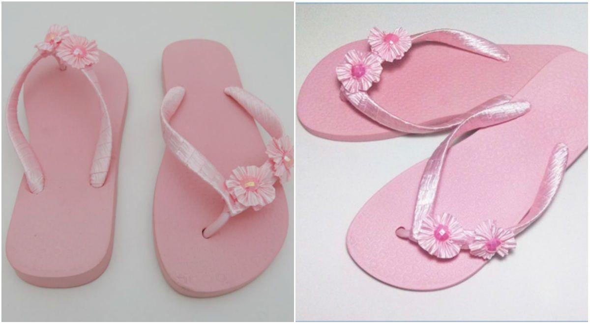 271b811c4b8ef5 Customizar chinelos - Confira o passo a passo e aprenda! | sapatos ...