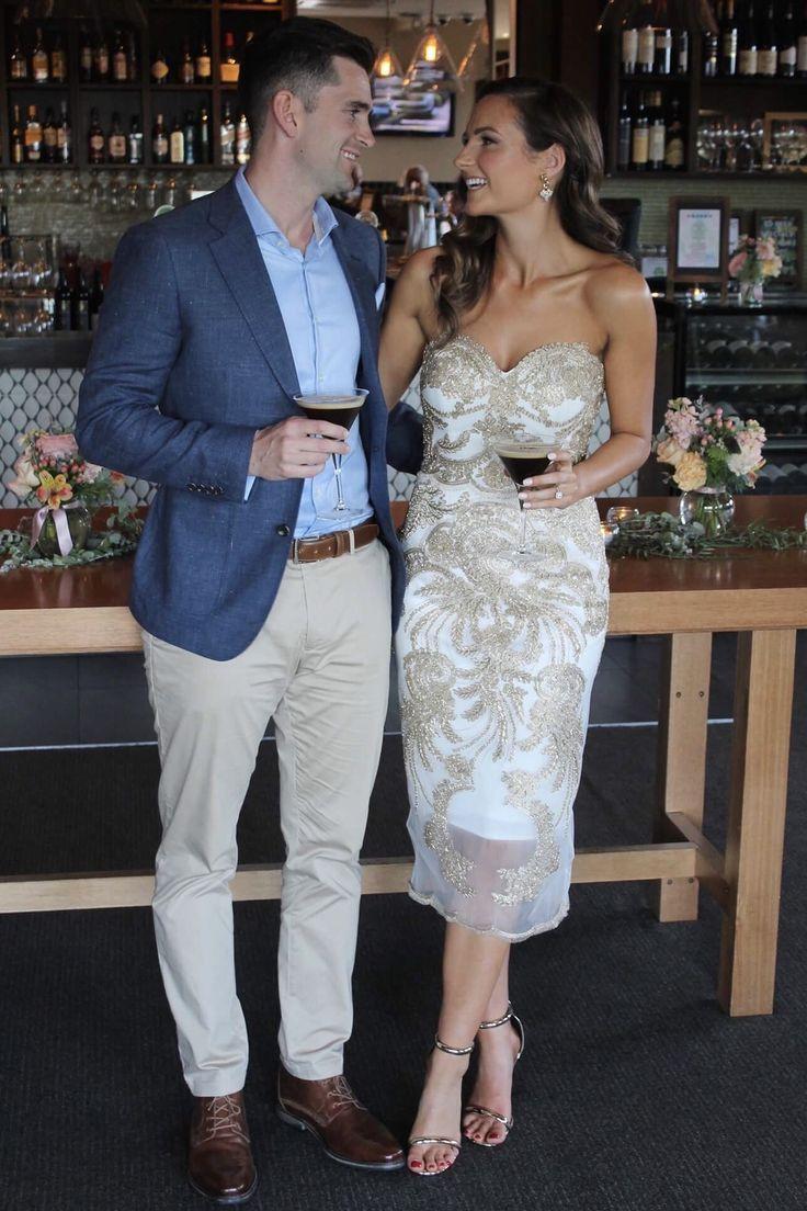 White Gold Engagement Dress #dressesforengagementparty