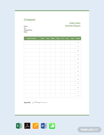 Daily Sales Report Template Excel Free 6 Professional Templates Sales Report Template Excel Templates Templates