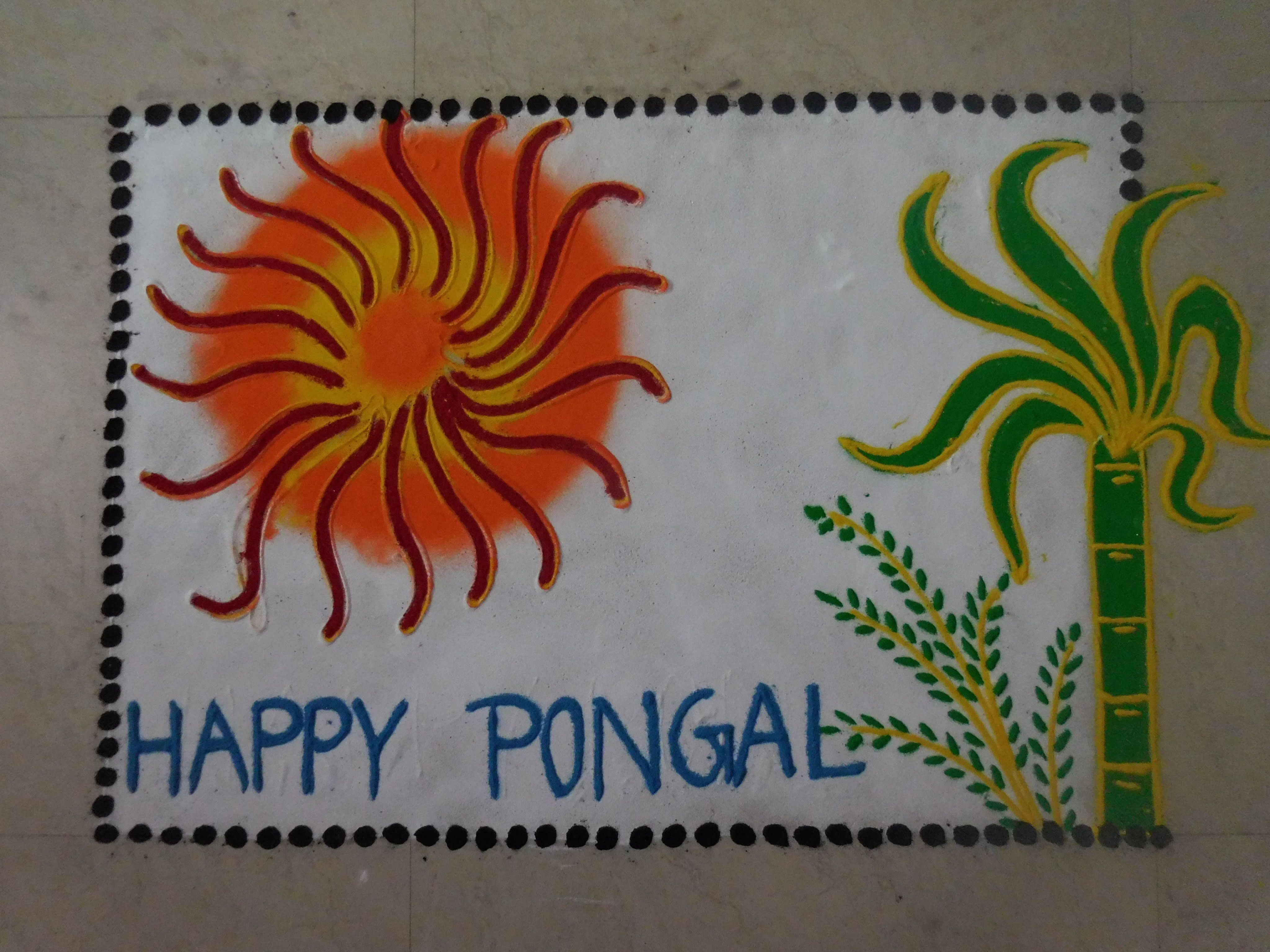 Poster design rangoli - Happy Makar Sankranti Rangoli Design 2016