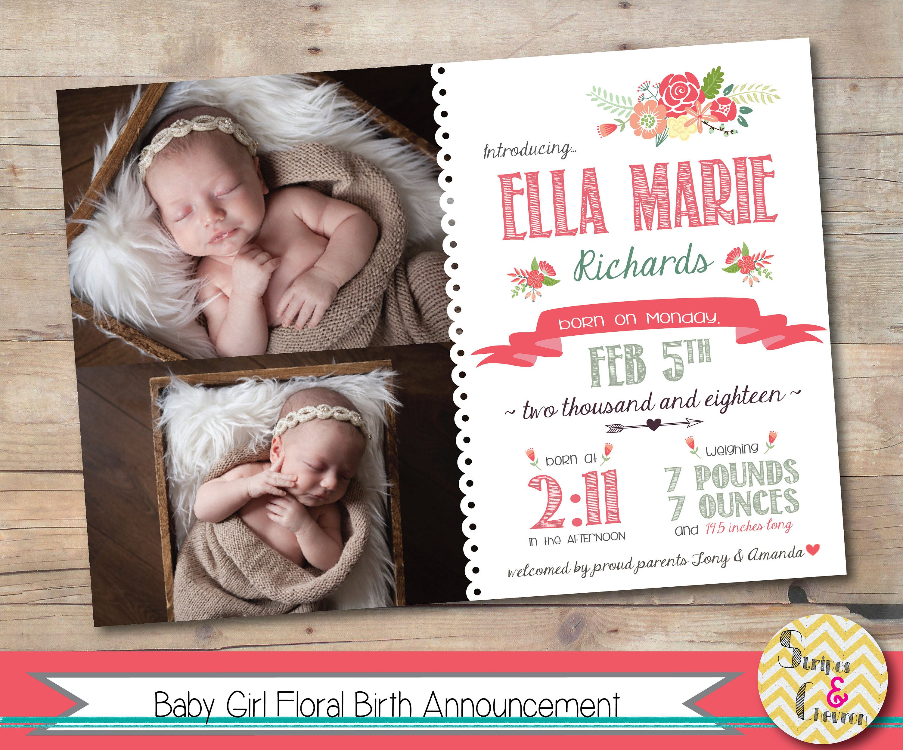 photo regarding Printable Baby Announcement referred to as Picture Start Announcement, Printable, Female Boy or girl Announcement