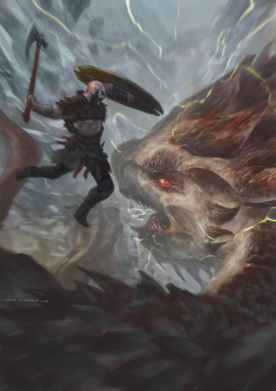 Artstation Hraezlyr Fadly Romdhani Kratos God Of War God Of War War Art