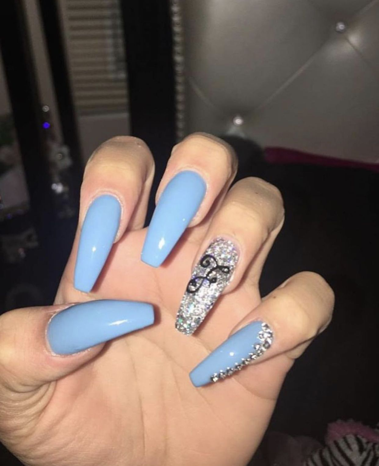 Queenkaylan Blue Acrylic Nails Red Acrylic Nails Coffin Nails Designs