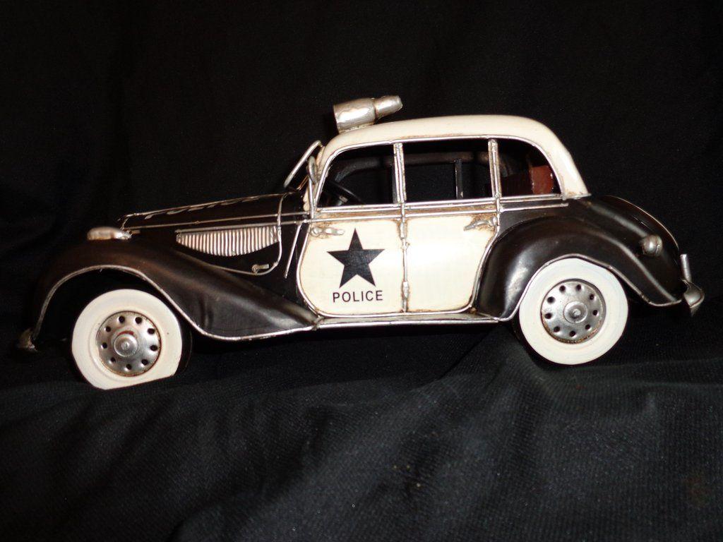 Car Police Tin Vintage Toy 1959 Chevy Jada Heat | Tin Automotive ...