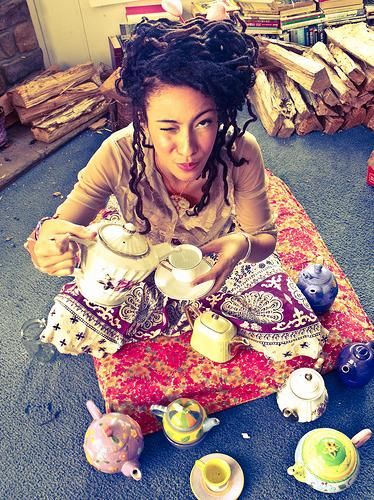 Dreads and tea....what a lovely combo!!  :)