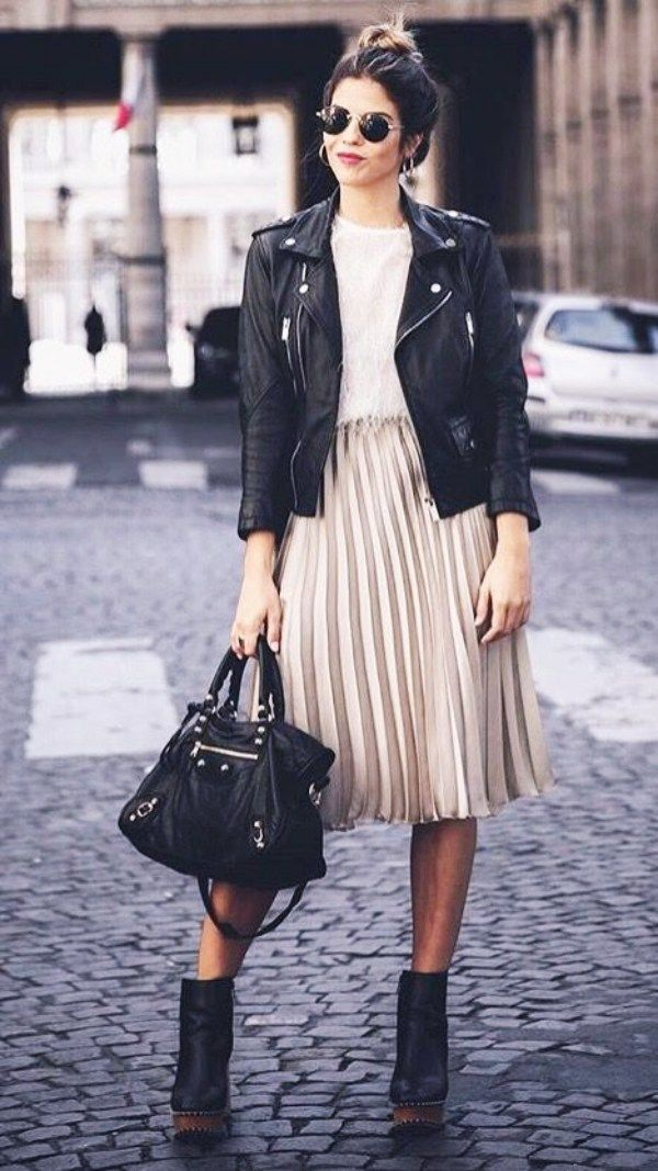 40 Unusual Jacket with Rock Outfits You should try this year - Hairstyle Fix #leatherjacketoutfit