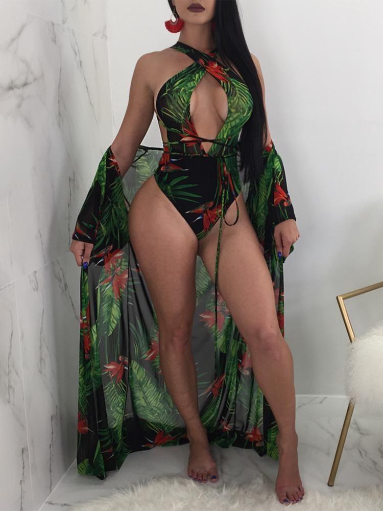 e3b131b1515d1 Sexy Cut out Front Cover Ups Swimwear Set | Summery ☀ | Swimwear ...