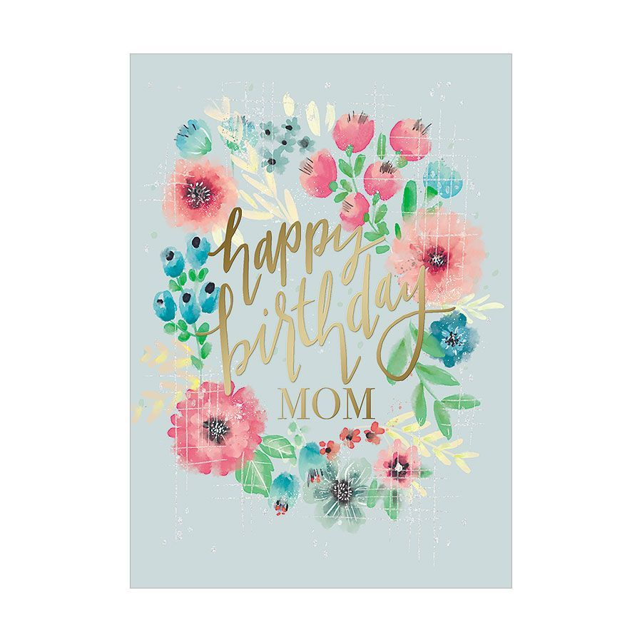 Pink and teal mom floral birthday card mummom cards pinterest pink and teal mom floral birthday card bookmarktalkfo Image collections