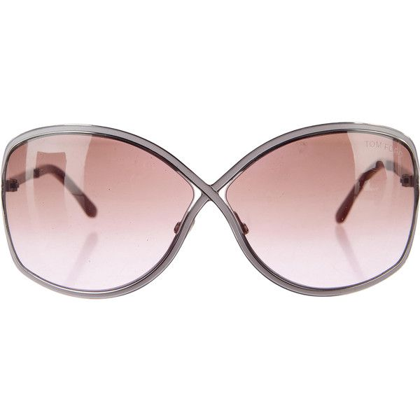 5b1d662d634 Pre-owned Tom Ford Enamel Butterfly Sunglasses ( 145) ❤ liked on Polyvore  featuring