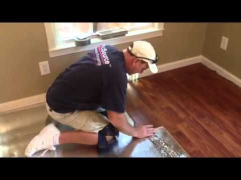 How To Install A Laminate Floor Youtube In 2019 Wood