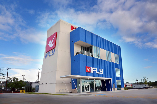 ifly indoor skydiving on the katy freeway access road between bunker hill blalock behind costco
