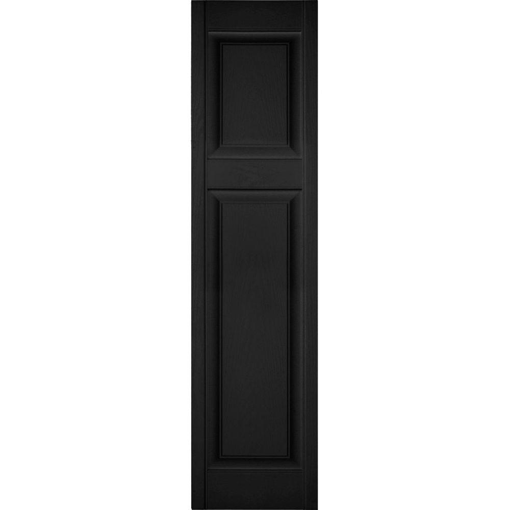Ekena Millwork 14 1 2 In X 38 In Lifetime Vinyl Custom Offset Raised Panel Shutters Pair Black Lp3c14x03800bl The Home Depot Raised Panel Shutters Vinyl Shutters Ekena Millwork