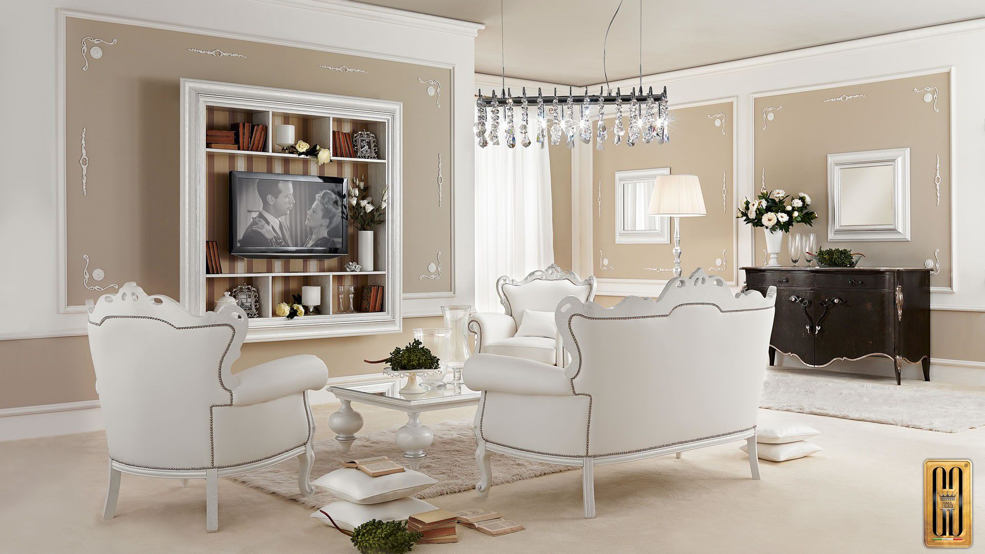 The Gotha Luxury\'s Glamour living room is our take on contemporary ...