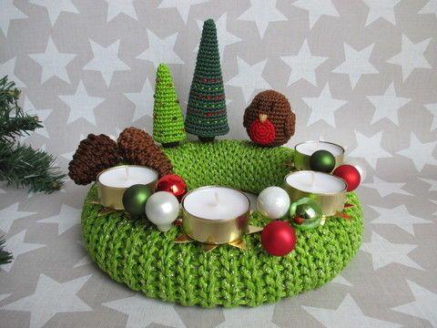 Photo of Advent wreath ROBIN crochet pattern