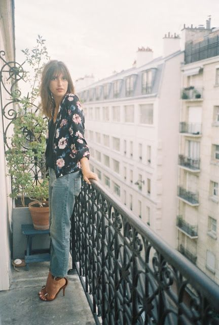 floral bomber + boyfriend jeans