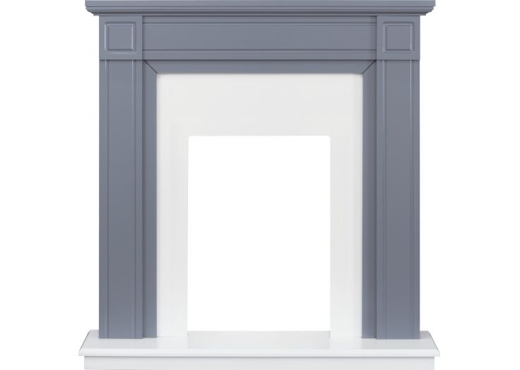 Adam Georgian Fireplace in Grey and Pure White, 39 Inch #purewhite