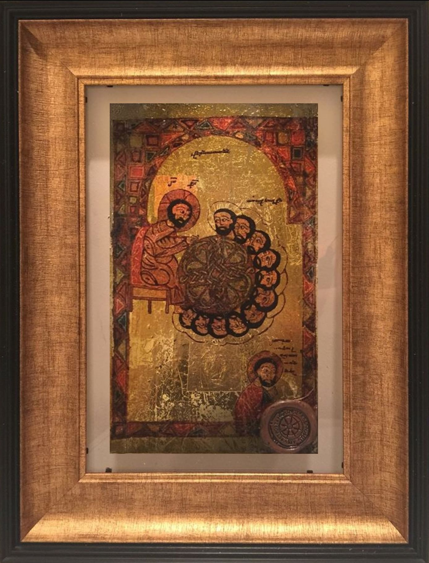 """The Last Supper"""" A beautiful (31x41 cm) Plexiglas piece made with ..."""
