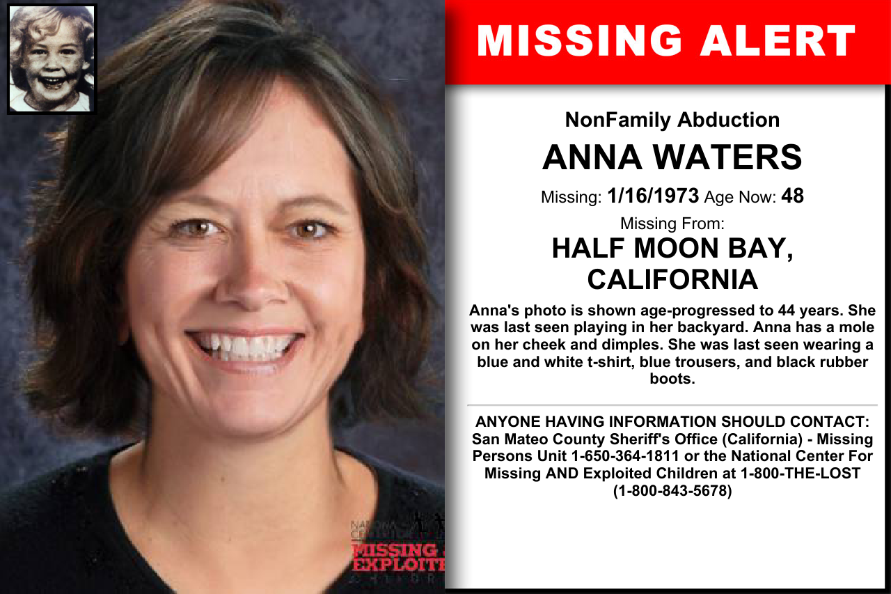 ANNA WATERS, Age Now: 48, Missing: 01/16/1973  Missing From