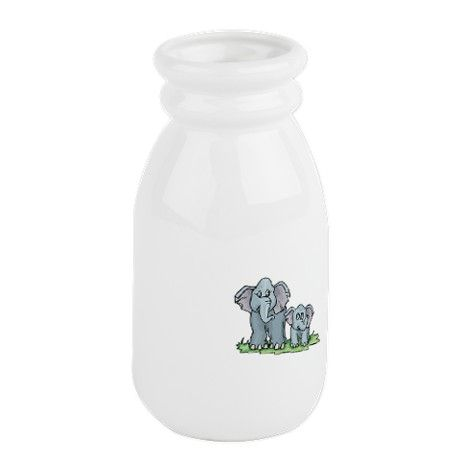 mommy baby elephant.png Milk Bottle on CafePress.com