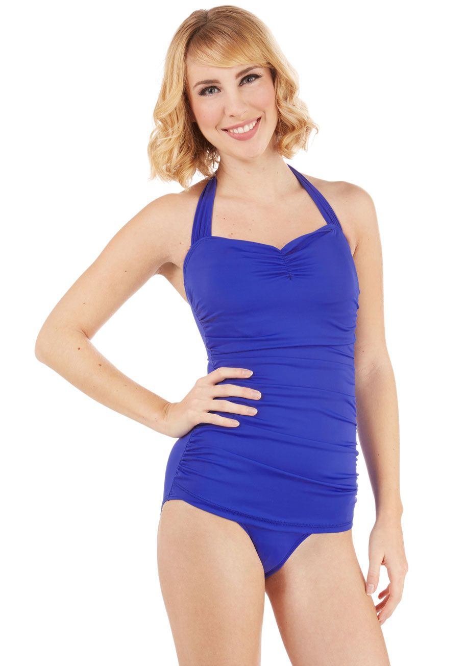 af5d92e44c Bathing Beauty One-Piece Swimsuit in Royal. It s ModCloth s ultimate  swimsuit - now in a royal-blue hue!  blue  modcloth