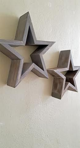 Wooden Star Wall Decor Rustic Milled By