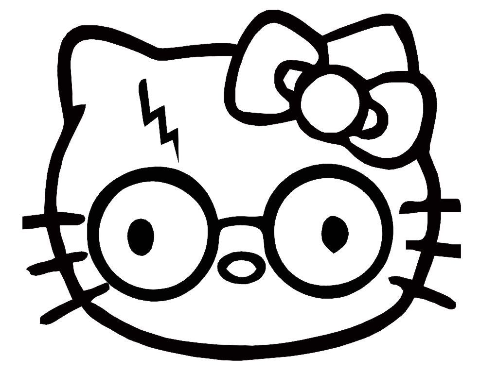 8350624bd Harry Potter Glasses And Scar Hello Kitty Custom Made