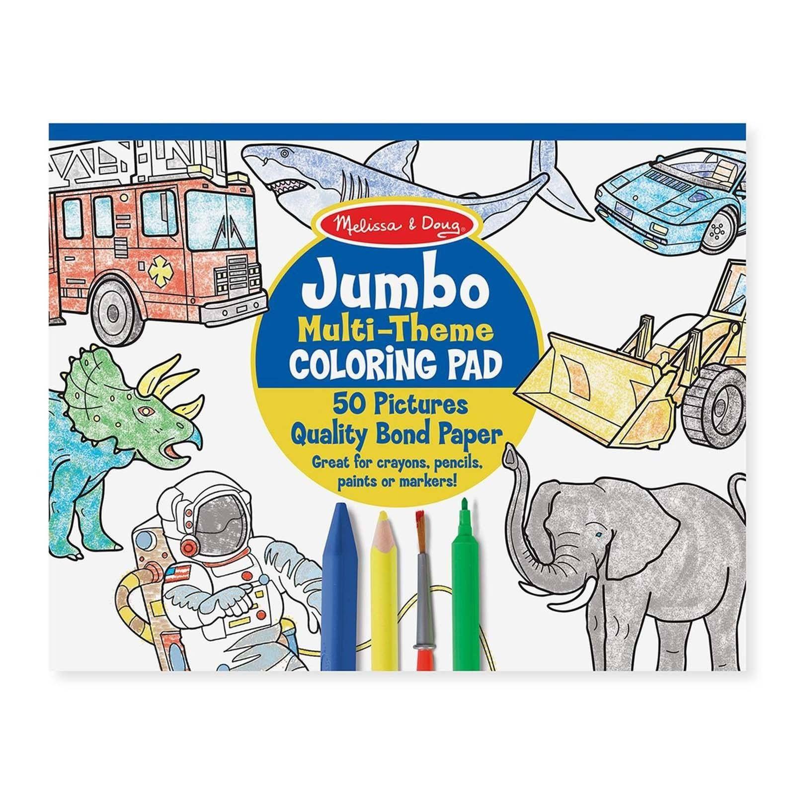 Melissa And Doug Jumbo Multi-Theme Blue Coloring Pad | Pinterest