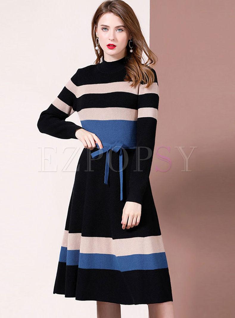 Half Turtleneck Long Sleeve Sweater Dress Long Sleeve Sweater Dress Turtle Neck Dress Sweater Dress