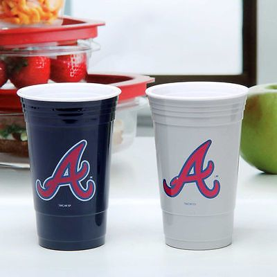 Atlanta Braves Home and Away Cup Set