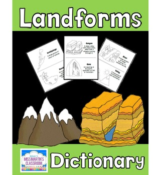 Free Landforms Dictionary Or Coloring Book This Versatile Set Can Be Used As Either A Student Landform In 2020 Landforms Writing Social Studies Social Studies Lesson