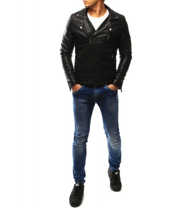 Pánska čierna kožená bunda  4b74c9cbbca