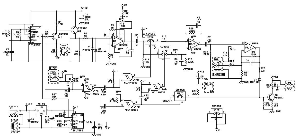 Schematic Diagram Of White's Surfmaster PI Metal Detector
