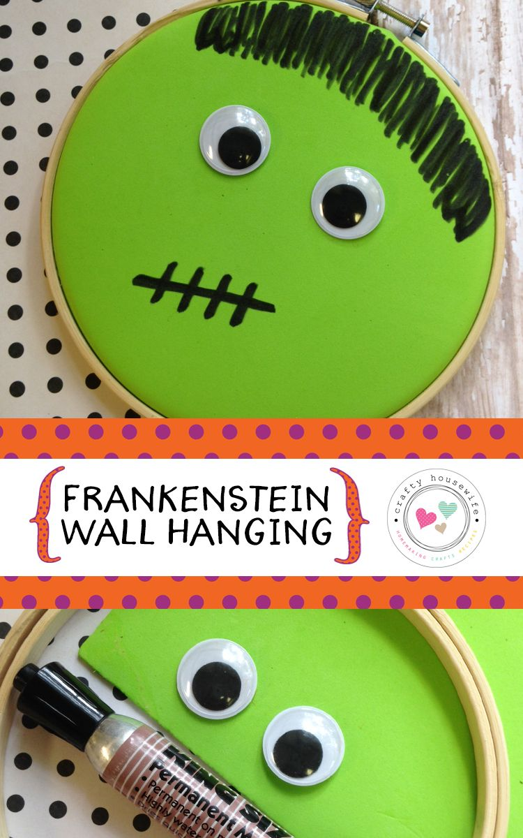 DIY Halloween Crafts for Kids Frankenstein Wall Hanging - Halloween Decorations For Kids