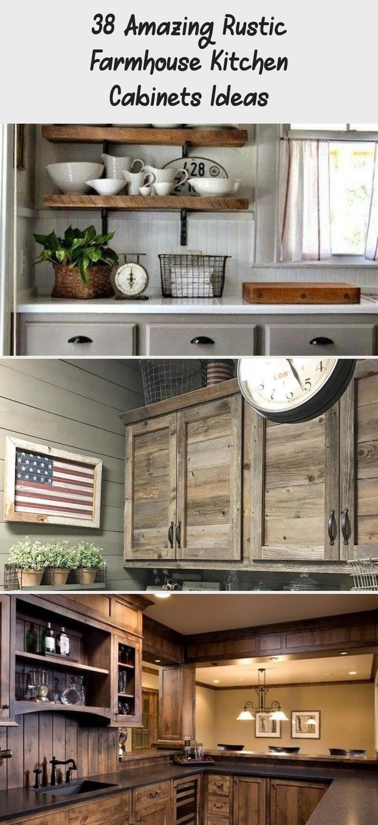 10+ Amazing Rustic Farmhouse Kitchen Cabinets Ideas Ideas