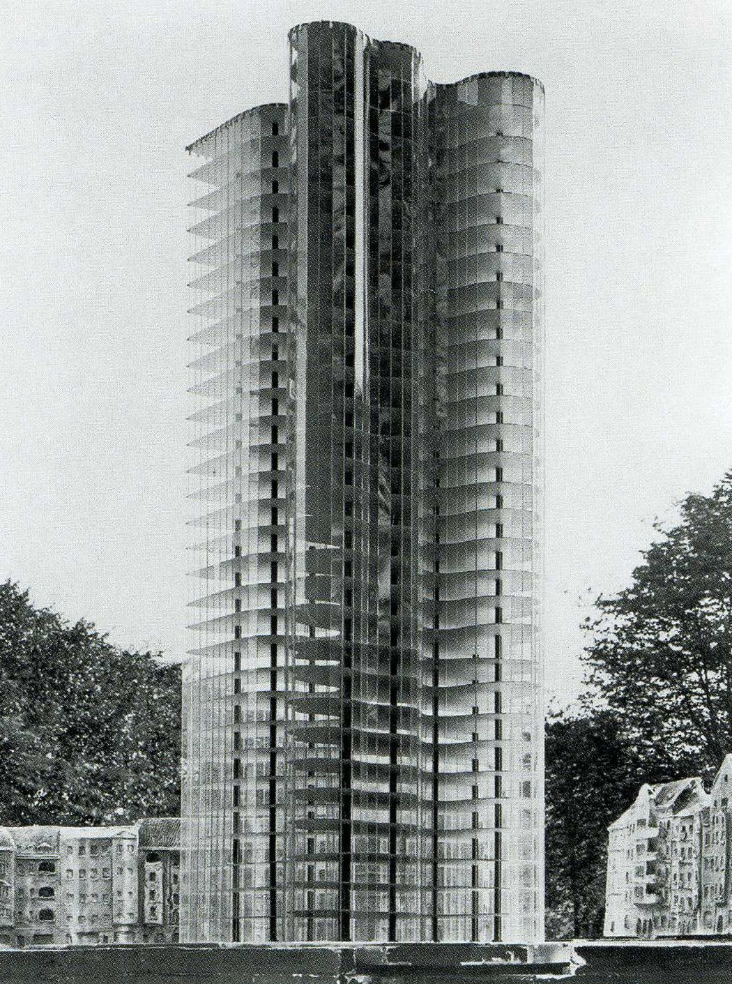 Modell Glashochhaus Mies Van Der Rohe 1922 Novembergruppe