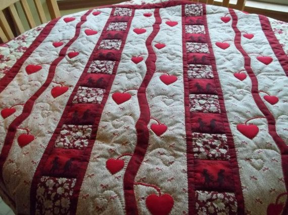 Valentines Day Quilt Quilted Wall Hanging Lap Quilt Quilt Lap