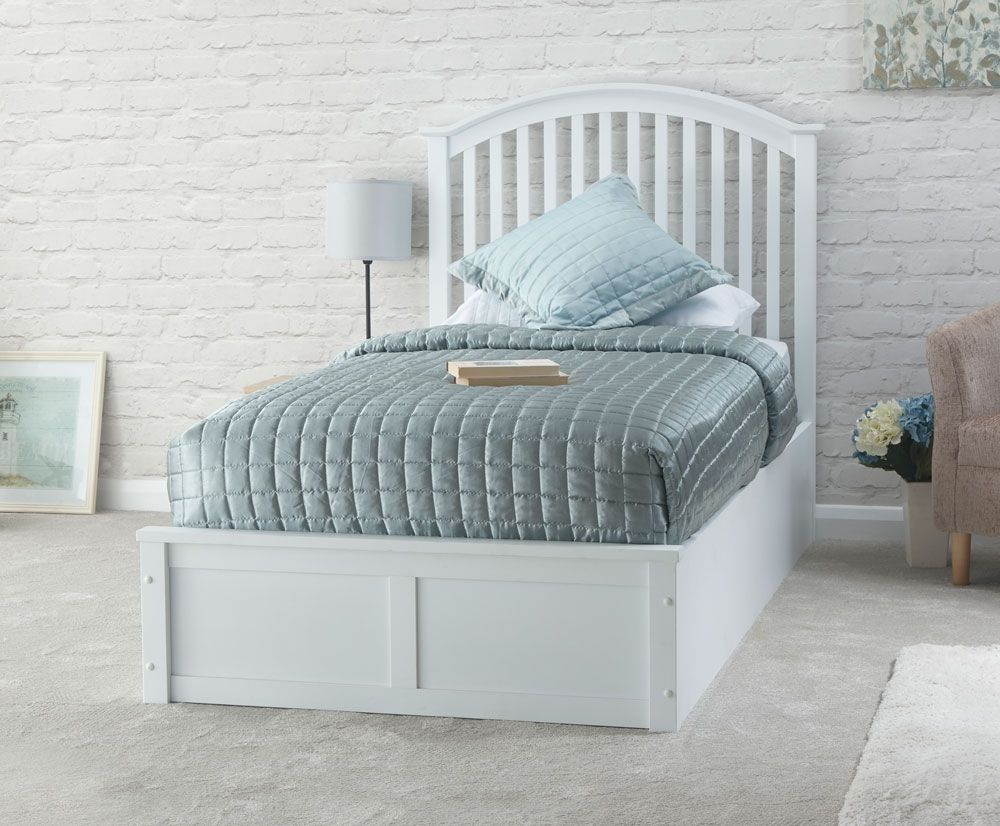 Swell Madrillo White Single Ottoman Storage Bed Frame Bed Frames Andrewgaddart Wooden Chair Designs For Living Room Andrewgaddartcom