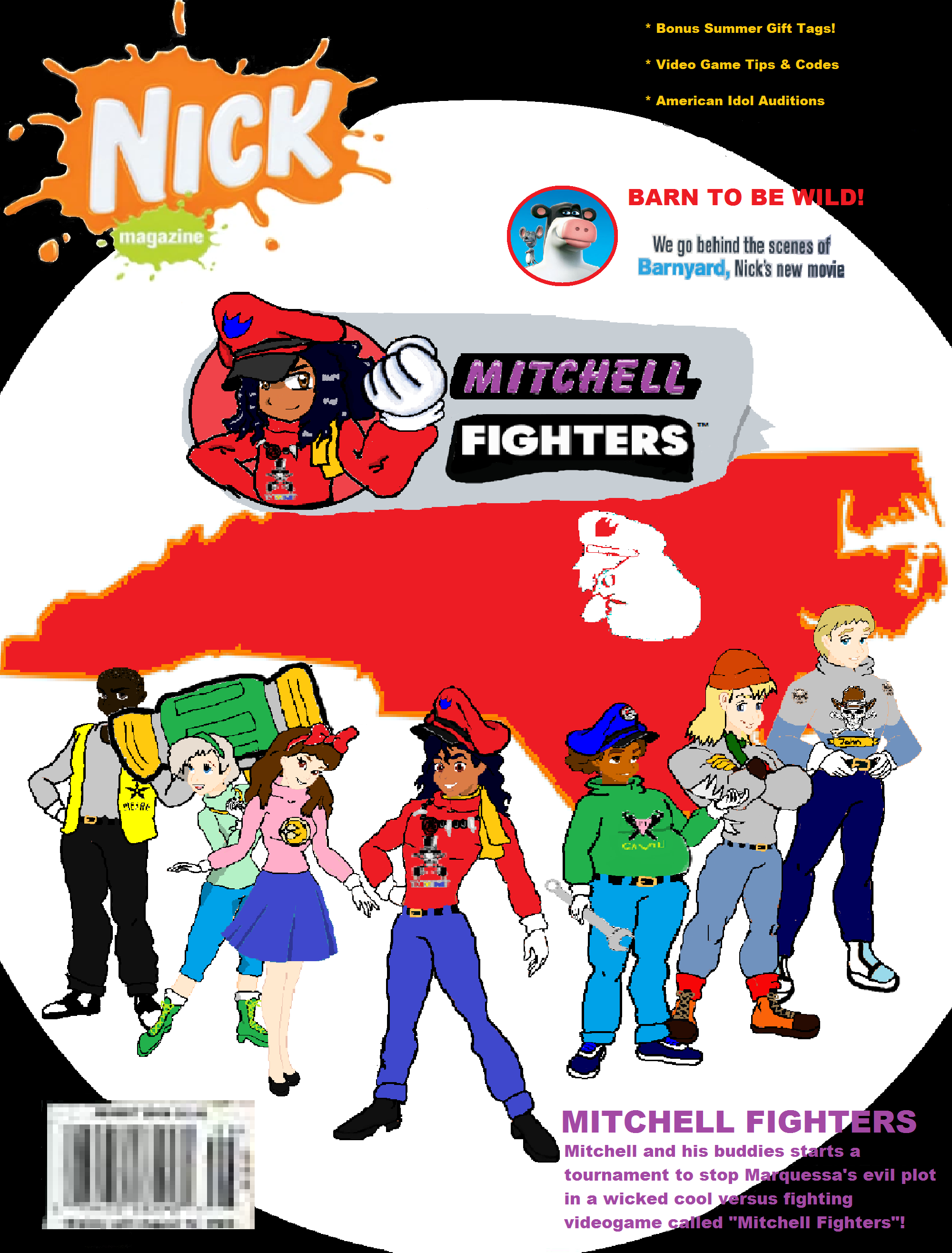 Mitchell Fighters Nickelodeon Magazine cover. Arcade