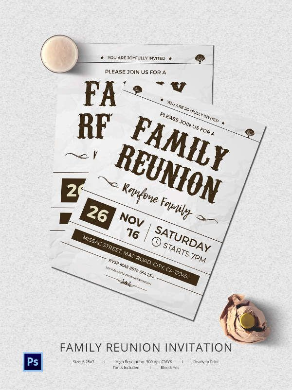 25+ Family Reunion Invitation Templates - Free PSD Invitations