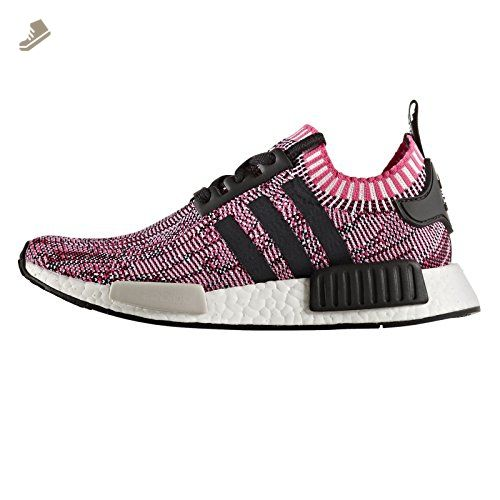 a01e4b6f3 NMD R1 Primeknit Womens in Shock Pink Core Black by Adidas