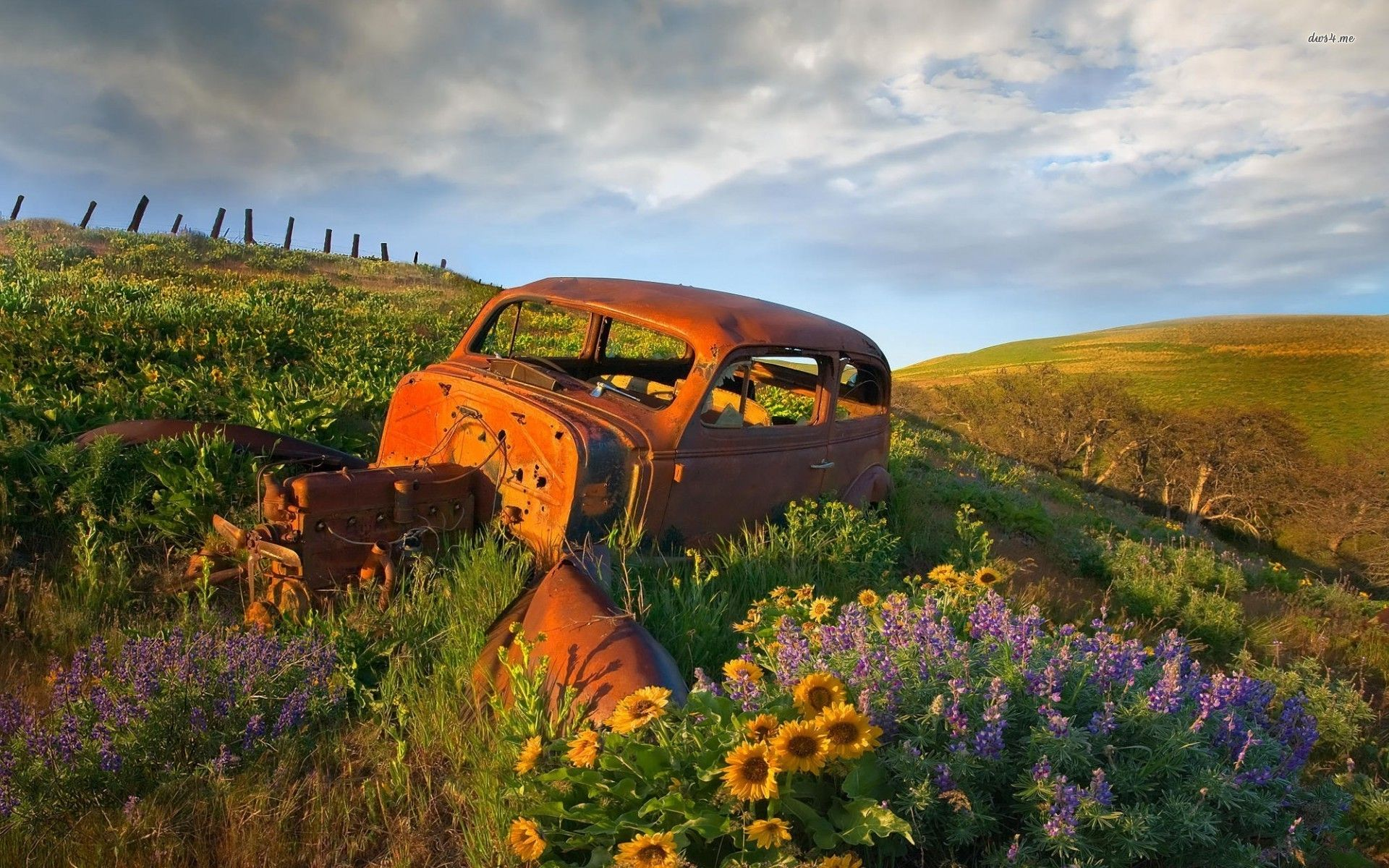 Top Pay For Junk Cars >> abandoned rusty-car-in-the-field- | abandoned/ghost towns | Rusty cars, Car wallpapers, Scrap car