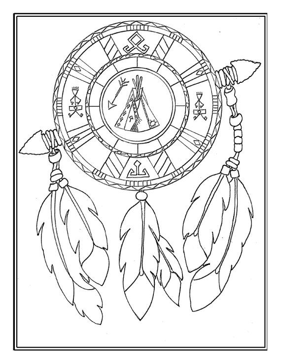 Printable Digital Download Native American Mandala Adult