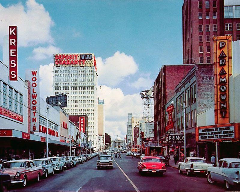 Cap Street Jackson Ms 1950s Postcard Jackson Mississippi