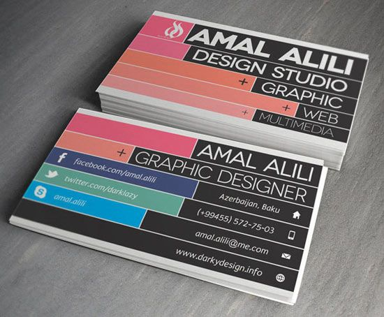 20+ New Cool & Creative Business Card Designs For ...