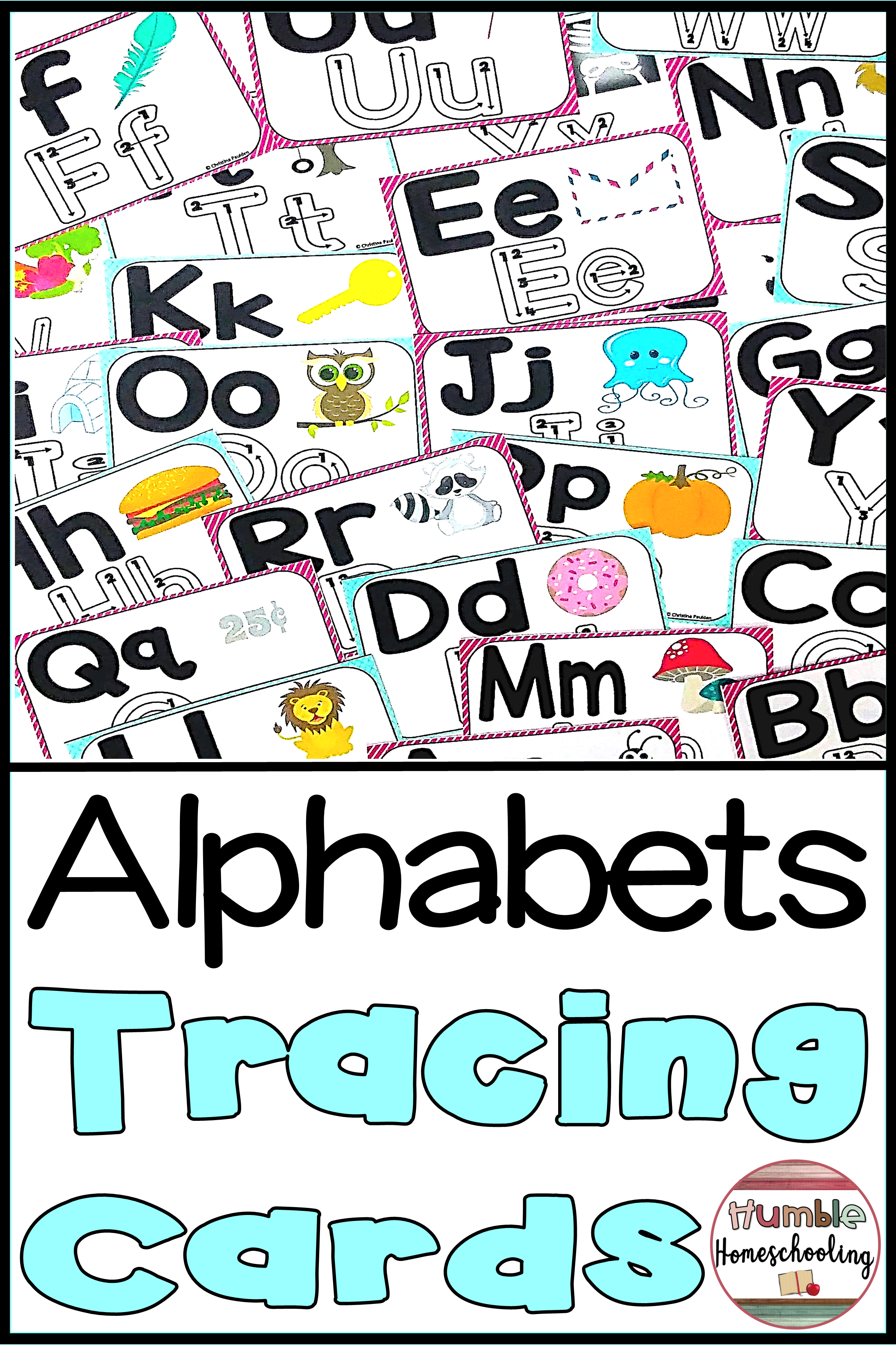 Alphabet Tracing Cards Uppercase And Lowercase With