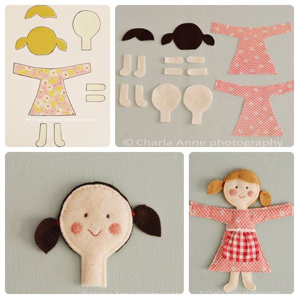 Cómo hacer muñecas de trapo caseras | felt | Felt dolls, Felt crafts ...