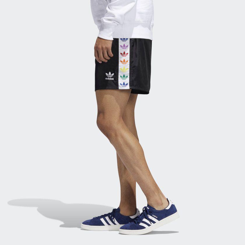 a2ef3fed55 adidas Pride Trefoil Tape Shorts in 2019   Mens Fashion   Black ...