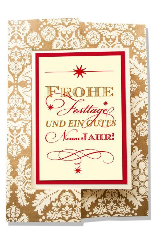 Weihnachtskarte als Twistcard, Gold, Rot, Creme, Stern ©passion4paper