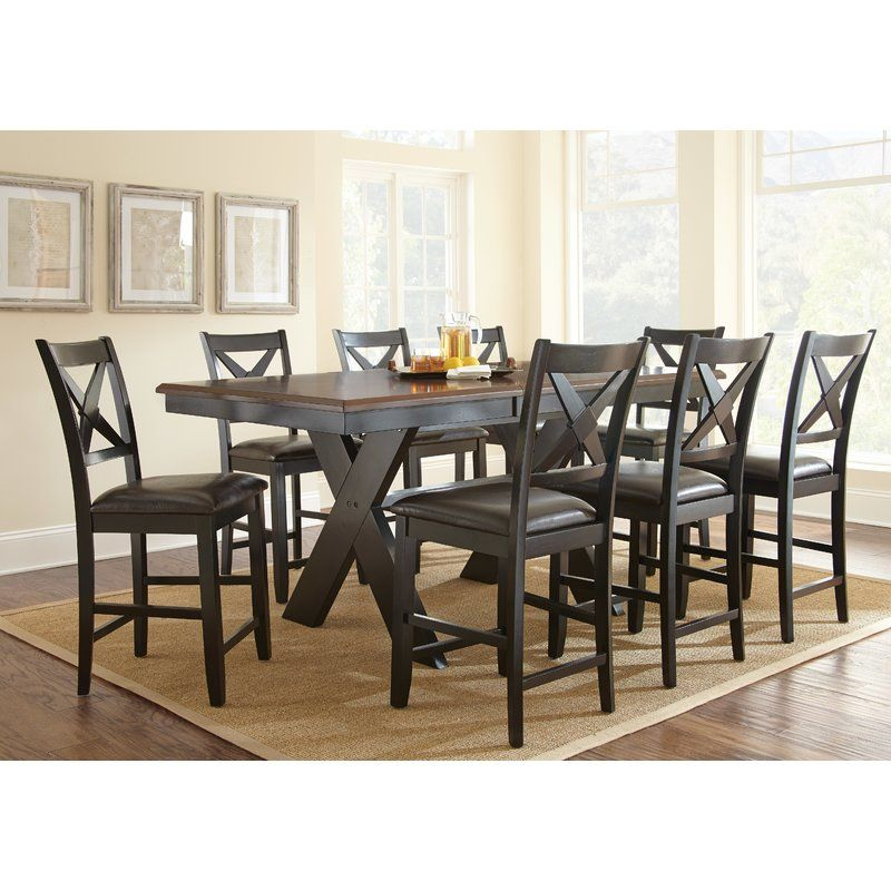 You Ll Love The Amsterdam 9 Piece Counter Height Dining Set At Wayfair Great D With Images Counter Height Dining Table Counter Height Dining Room Tables Dining Room Sets